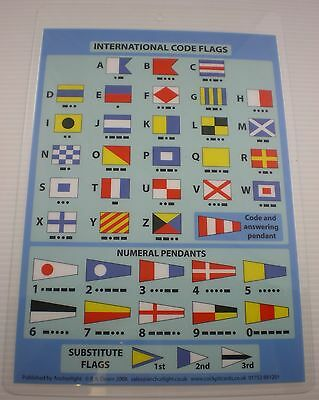 Cockpit Card International Code Flags - Boat - Yacht  - Ms10