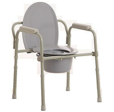 Mle Over Toilet Aid With Care, Commode Chair, Adjustable Height Splash Guard