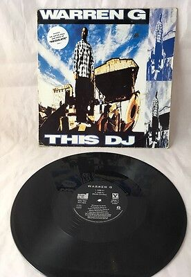 "Warren G This DJ / Regulate 12"" Vinyl Single 1994 Rap Hip Hop"