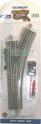 Bachmann HO Scale E-Z Track System® Remote Turnout Right Hand 44562