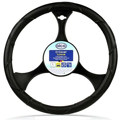 Premium Steering Wheel Cover 41-43cm Large Truck Hgv Van leather look XL size