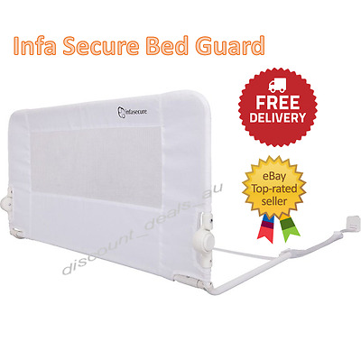 Child Bed Guard Safety Rail Toddler Childrens Kids Fold Down Bedrail Infasecure