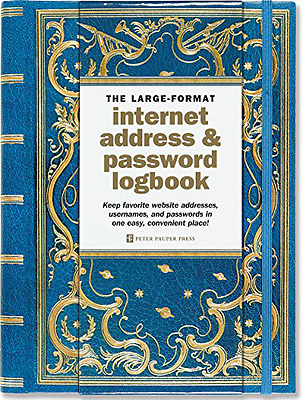 Celestial Large-Format Internet Address and Password Logbook Hardcover Spiral