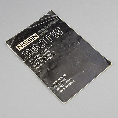 Nissin 360Tw Flash User / Instruction Manual / Guide / Booklet