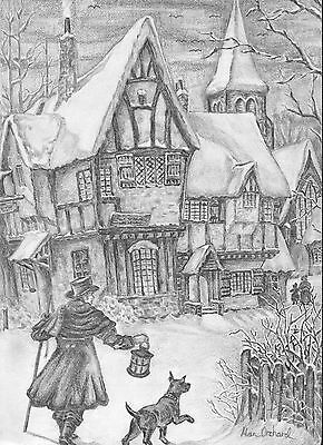 The Warm Welcome Signed & Numbered Limited Ed A4 Print Of Pencil Drawing