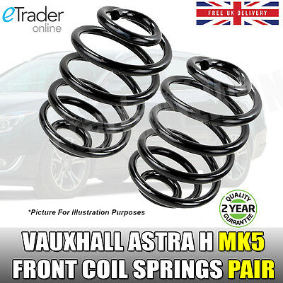 Vauxhall Astra H 1.4 1.6 MK5 Front Coil Springs Pair X2 Road Spring 04-11 NEW