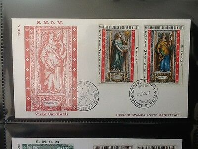 1974 Sovereign Military Order of Malta FDC STAMPS  VF Lot 5314