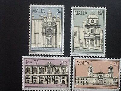 Malta 1992 Historic Buildings  set   Mint  NH Scott No 805 - 808  VF