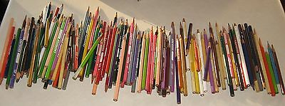 large lot 150 mixed colors & sizes Laurentien colored pencil crayons