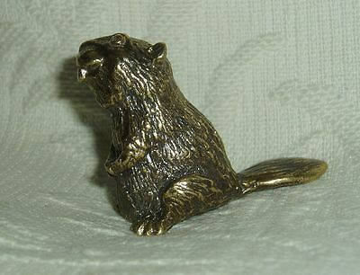 Russian Сollectible Decorative Brass Thimble Beaver