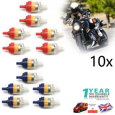 10pcs 6mm 8mm Universal Fuel Filter LARGE Car Petrol Diesel Inline Pipe UK