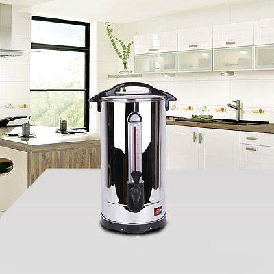 Hot Water Boiler Cooker Catering Urn 35L Stainless Steel Stainless Steel Top