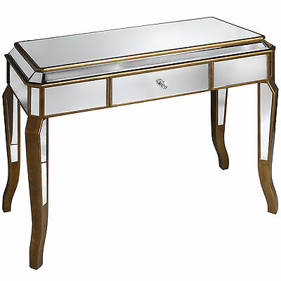 Venetian Mirrored Dressing Table With Large Drawer - Add Style To Your Home.