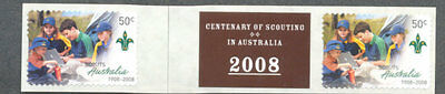 Australia-Scouting Centenary 2 x 50c self-adhesives  + label- 2009