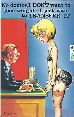 Vintage 1970's Bamforth COMIC Postcard (as new condition) Transfer it #364