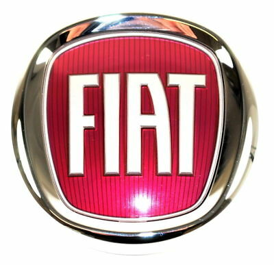 Fiat 500 / 500L Front Grille Bumper Badge Red Logo Emblem New + Genuine 51932710