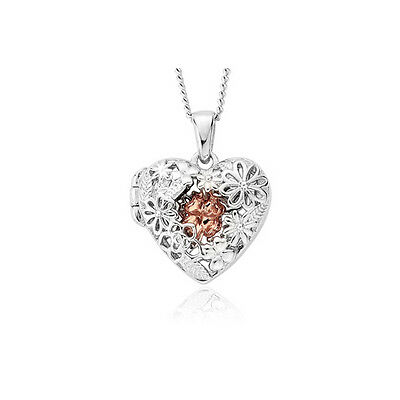 BRAND NEW Clogau Gold Silver & Rose Gold Meadow Heart Locket (small) £40 off!