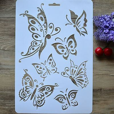 2PCS DIY Craft Tools Scrapbooking Stamps Album Paper Cards Butterfly Stencils