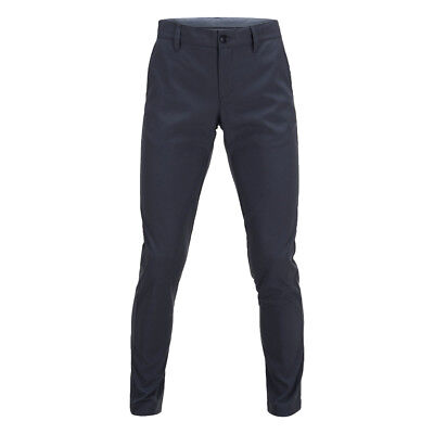 Peak Performance Straight Leg Golf Trousers with Soft Finish in Navy Blue