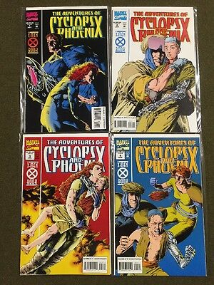 Adventures of Cyclops & Phoenix #1-4 Complete Set Run ~ Marvel Comics X-Men ~