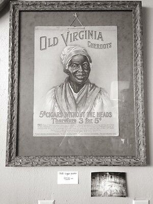 1908 Cigar Poster Museum Quality Framing