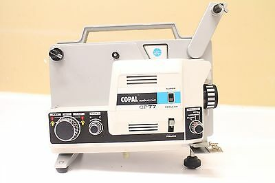 COPAL CP 77 SUPER 8 /REGULAR AUTOLOAD MOVIE PROJECTOR With Extras