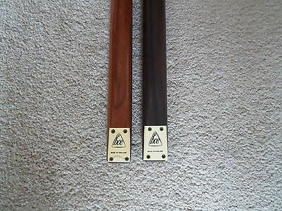 2 Vintage Snooker Cues 2 Piece - BCE hand spliced Ray Reardon & one other