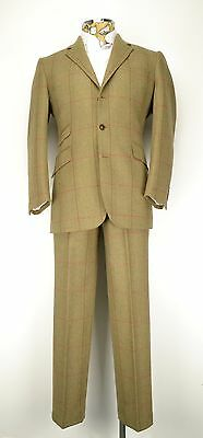 "42"" Short Saxony Tweed Suit Johnstons Brook Taverner Gamekeeper Country Check"