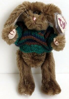 """Ty Attic Treasure Jointed Plush Toy Benjamin Bunny Rabbit  approx  8"""" w Sweater"""
