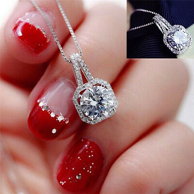 Fashion Crystal Charm Pendant Jewelry Chain Chunky Statement Choker Necklace FB