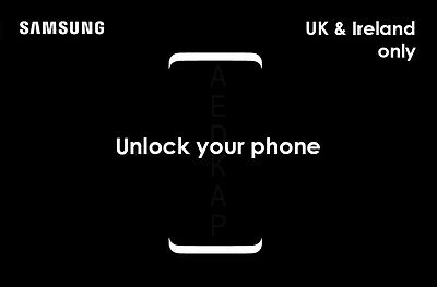 Samsung Galaxy S8 S8+ S7 Edge S6 S5 Note Unlock Code O2 Ee Three Vodafone