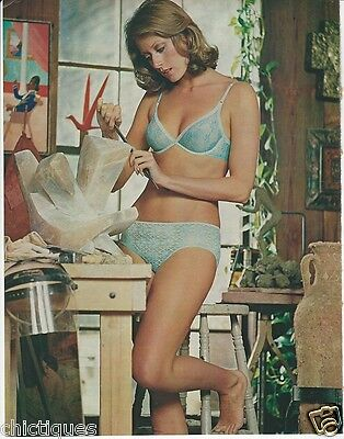 1973 BALI Sensuale Lace BRA Hipster PANTIES Girl Does YOGA Lotus Pose 2pg Ad