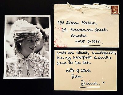 1991 HRH PRINCESS (Lady) DIANA handwritten & signed letter, autographed, Royal