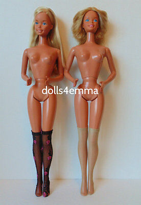 Supersize Barbie Doll Clothes accessories Lot of 2 pr STOCKINGS Black+ nude d4e