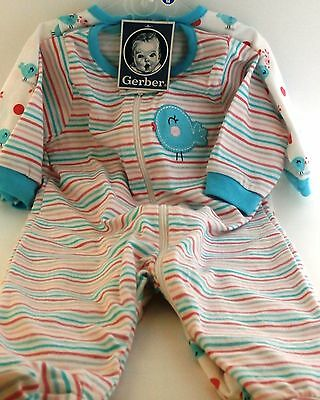 Gerber Baby Girl Footed Sleep n Play 2 pack 0-3 months NWT BABY SHOWER GIFT