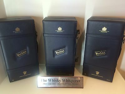JOHNNIE WALKER 750ml Old Blue Label Scotch Whisky with Leather Case!