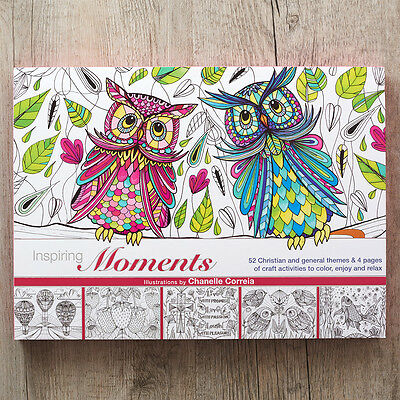 Christian Colouring Craft Book Inspiring Moments. FREE DELIVERY