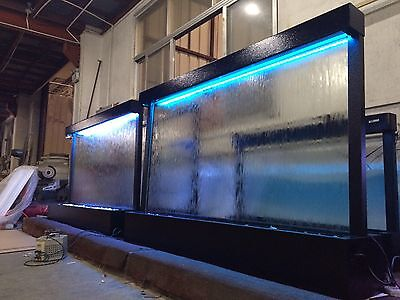 "WATERFALL XXL 72"" Wide x48"" Black , Clear Glass Color Lights, Remote Ctrl"