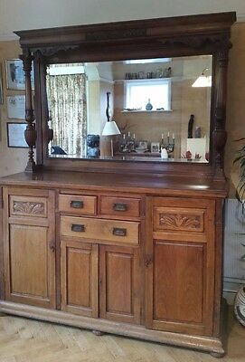 Edwardian Walnut Sideboard dresser with mirror