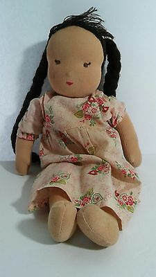 "Vintage Classic Kathe Kruse 15"" Waldorf Doll Made In Germany"