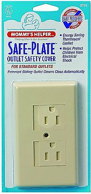 Mommys Helper Safe Plate Sliding Electrical Outlet Covers Standard - Almond