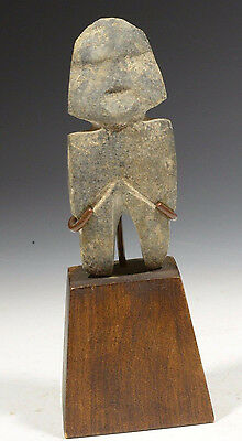 ART FOR ETERNITY: Authentic Pre Columbian Stone Carving Figure Mezcala ca 100 BC