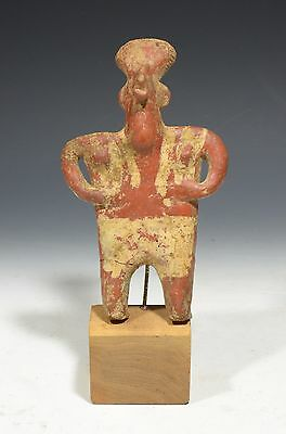 Authentic Pre Columbian Ancient Nayarit Flat Pottery Colima Figure
