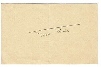 Jean Muir Actress Hand signed paper page 6 x 4