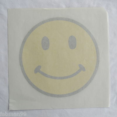 Happy Face or Smiley Face  Round T-shirt Heat Transfer Iron On Vintage