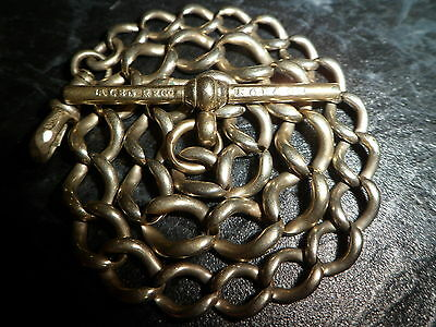 Antique Silver / Gold Tone Chunky Graduated Albert Pocket Watch Chain