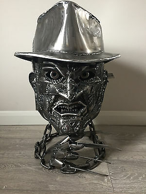 Freddy Krueger Novelty Amazing Log Wood Burner Chimemea Gas Bottle Heater Horror