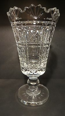 Rare*VINTAGE* Waterford Crystal MASTER CUTTER Flower Celery Vase MADE IN IRELAND