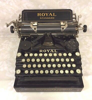 Antique Royal Standard No 1 Typewriter Nice Stenciling & Finish