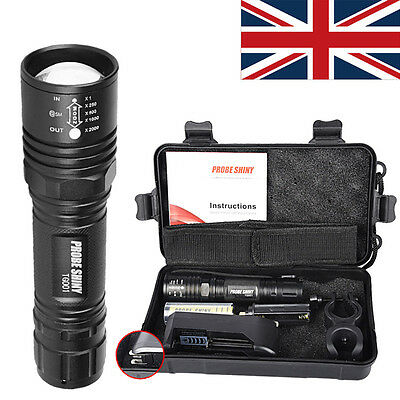 X800 Shadowhawk 10000lm Tactical Flashlight CREE T6 LED Military Torch Gift Kit